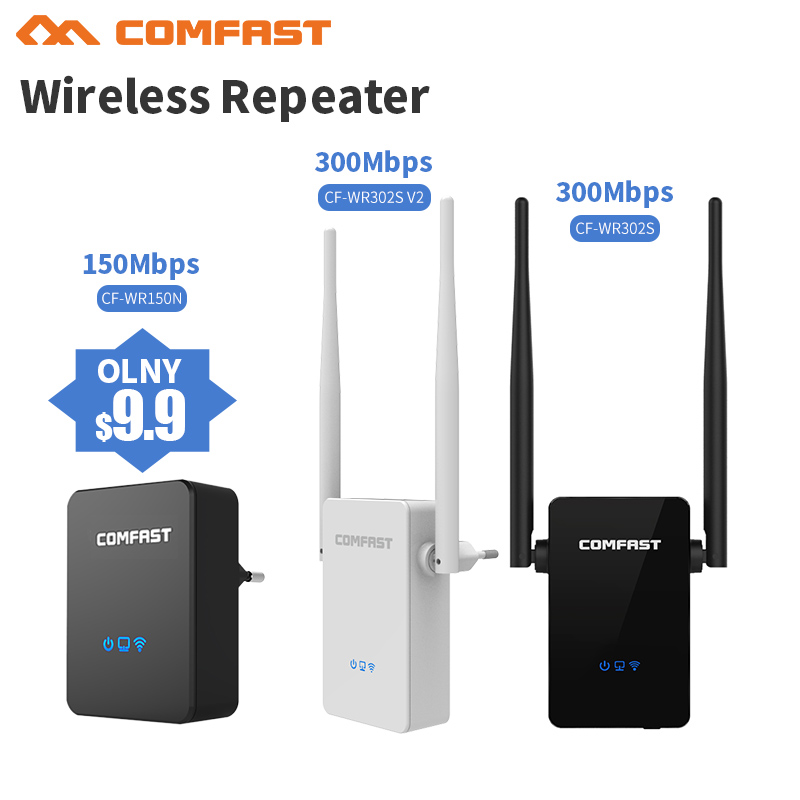 300Mbps Wireless WiFi Repeater WiFi Router, Access Point (AP),  2*5dBI Antenna WI FI Signal Boosters Network Amplifier Repeater comfast wireless outdoor router 5 8g 300mbps wifi signal booster amplifier network bridge antenna wi fi access point cf e312a