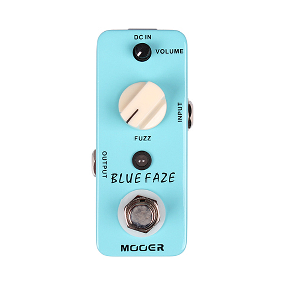 Mooer Blue Faze Full Metal Shell Effects Mini Classic Smooth Vintage Fuzz Sound Effect Pedal Guitarra Accessory mooer blue faze fuzz effect pedal mini electric guitar effects true bypass with free connector and footswitch topper
