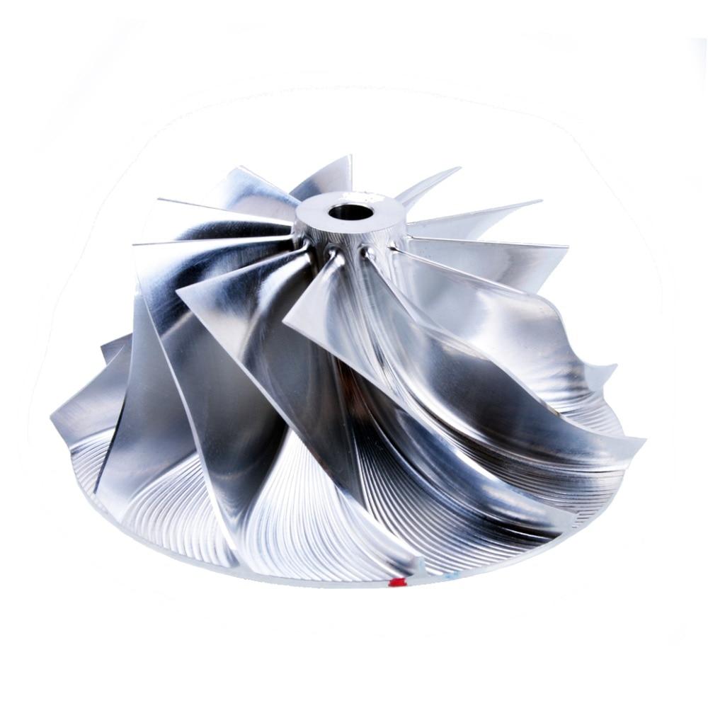 Otomobiller ve Motosikletler'ten Turbo Şarj ve Parçaları'de Kinugawa Turbo takoz kompresör çarkı 62.45/82.36mm 11 + 0 Büyük Burun Garrett GTX3582R title=
