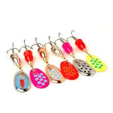 6pcs Spinner Bait Metal Spoon Fishing Baits Set Colored Lure Tackle Hook MC889