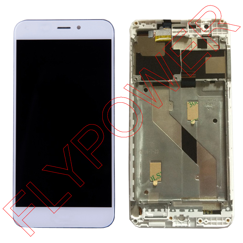 100% warranty White Color LCD Screen Display With Touch Screen Digitizer + Frame Assembly for UMI Super 5.5 inch FHD 1920*1080 lcd screen assembly for apple iphone 4 4g lcd display touch screen digitizer pantalla with frame bezel replacement black white