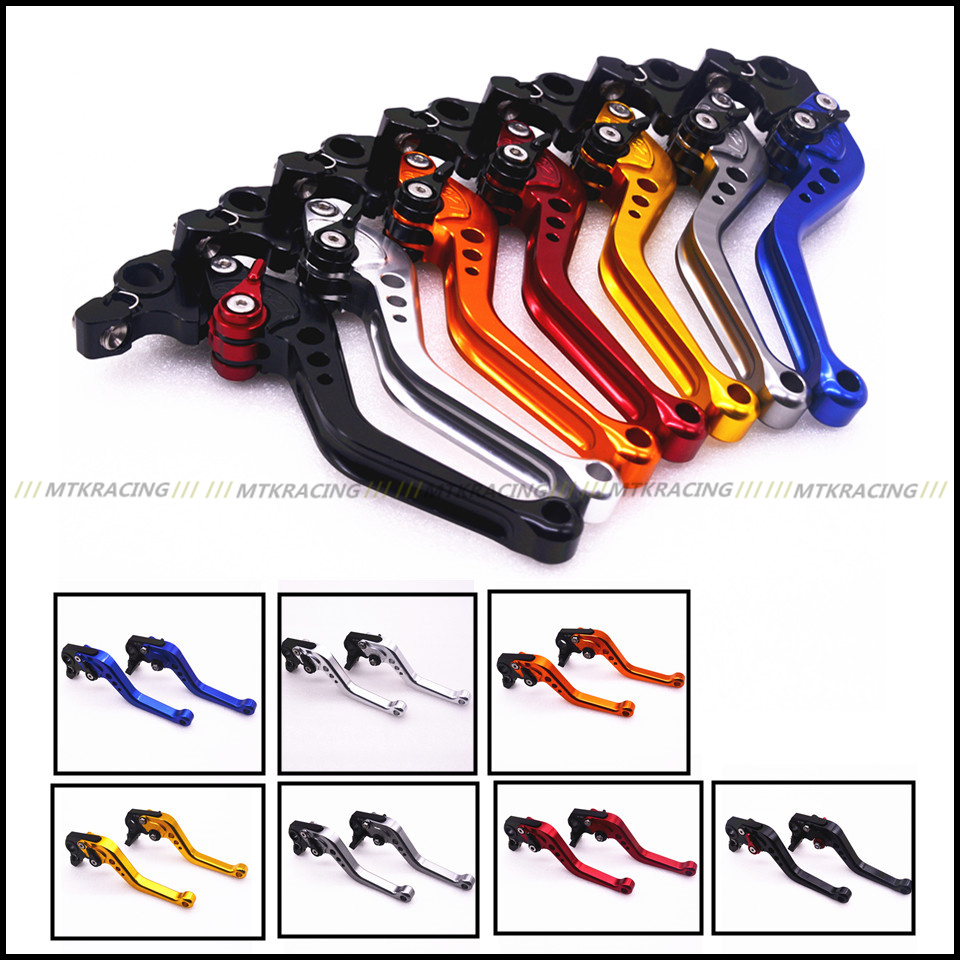 MTKRACING Motorcycle Short Handlebar CNC Clutch Brake Levers For Suzuki SV650 DL650/V-STROM adjustable short straight clutch brake levers for suzuki gsx 650 f gsf 650 bandit n s dl 1000 v strom 2002 2015