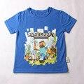 Мода Новые Детские Королевский Синий Детские футболки 100% лето коротким рукава топы для девушки парни мультфильм для взрослых футболки 2-14 Т
