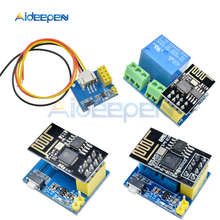 ESP8266 5V WiFi relay module DS18B20 DHT11 RGB LED Controller Things smart home remote control switch phone APP ESP-01 ESP-01S(China)