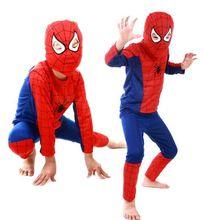 1 pc kid super hero tema das crianças roupas das meninas dos meninos do dia das bruxas partido do traje do homem aranha superman dress up traje cosplay