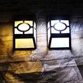 3pcs/Lot Waterproof Solar Powered LED Wall Lamps Outdoor Solar LED Garden Yard Path Fence Wall Landscape Black Lantern Lamp