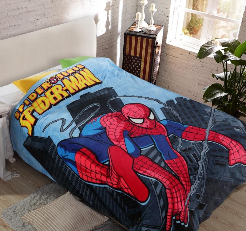 Cartoon Spiderman Flannel Blanket Adult/kids Cute Marie Cat Minions Warm Soft Fleece Blanket Queen Size 150x200cm Free Shipping