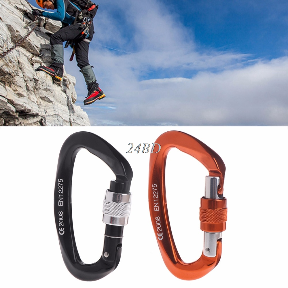 25kN Carabiner Buckle Aluminum Alloy Hook Climbing Camping Outdoor Survival Tool J02 13 9cm aluminum alloy outdoor sports carabiner w sponge purple