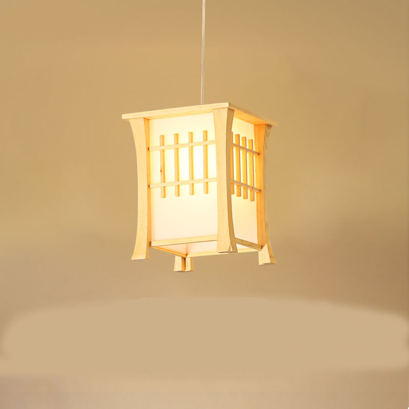 Japan Bamboo Wood Pendant Light Kitchen Washitsu Tatami Decor Restaurant Living Room Hallway Dining Room Hanging Lighting