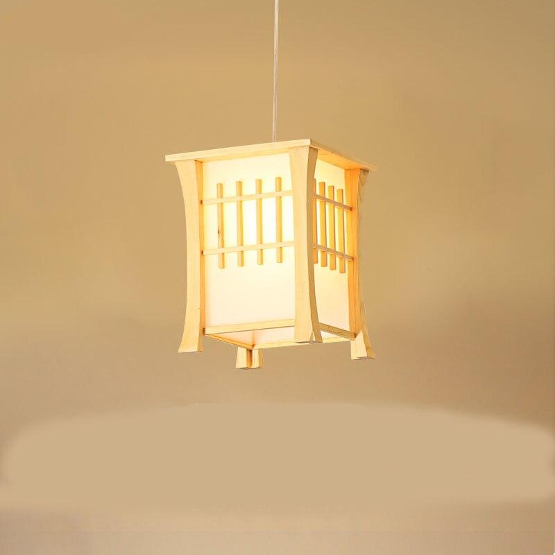 Japan bamboo wood Pendant Light Kitchen Washitsu Tatami Decor Restaurant Living Room Hallway dining room hanging lighting