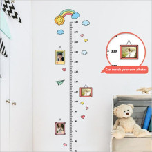 4 Styles Of Cute Cartoons Child Growth Height Ruler Sticker For Kids Room Bedroom Meter Stickers Decor