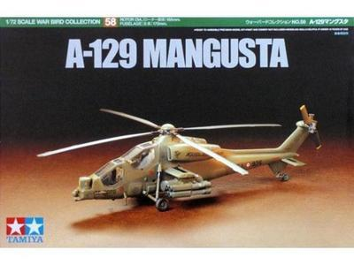 Tamiya 60758 Helicopter Model 1/72 Scale A-129 MANGUSTA Hobby Model Kit Free Shipping