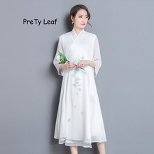 2018 Spring and Summer lace double silk dress