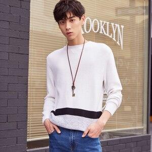 Image 2 - ¡Novedad! Jersey de punto de algodón de manga larga de otoño para hombre de Metersbonwe, ropa de alta calidad
