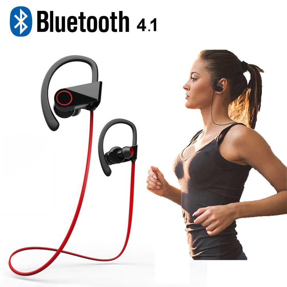 Беспроводной Bluetooth 4 1 наушники IPX4 с защитой от пота AAC спортивные регулятор баса