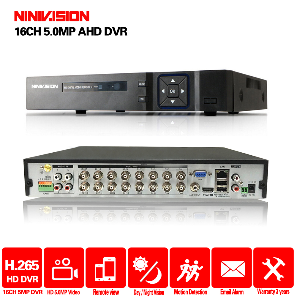 16 Channel AHD DVR 5MP DVR 16CH AHD AHD 5MP NVR Support 2560*1920P 5.0MP Camera CCTV Video Recorder DVR NVR HVR Security System-in Surveillance Video Recorder from Security & Protection