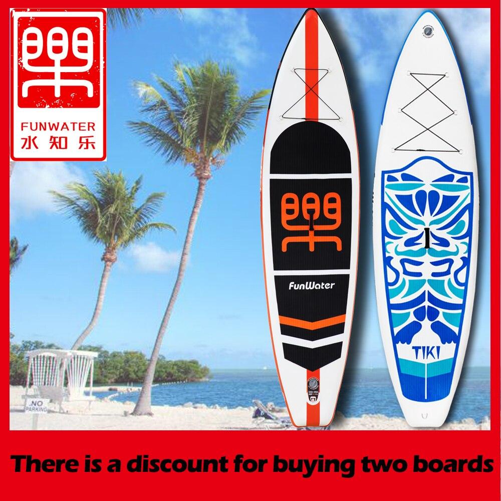 Gonflable stand up paddle Board Sup-Conseil Planche De Surf Kayak Surf paddle avec Sac À Dos, laisse, pompe, sac étanche, fin