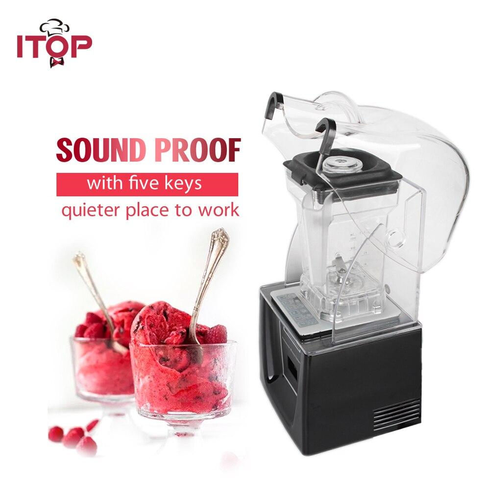 ITOP Commercial Standard mélangeur Smoothie Maker 1500 ml avec 5 fonctions presse-agrumes noir/blanc 110 V/220 V/240 V
