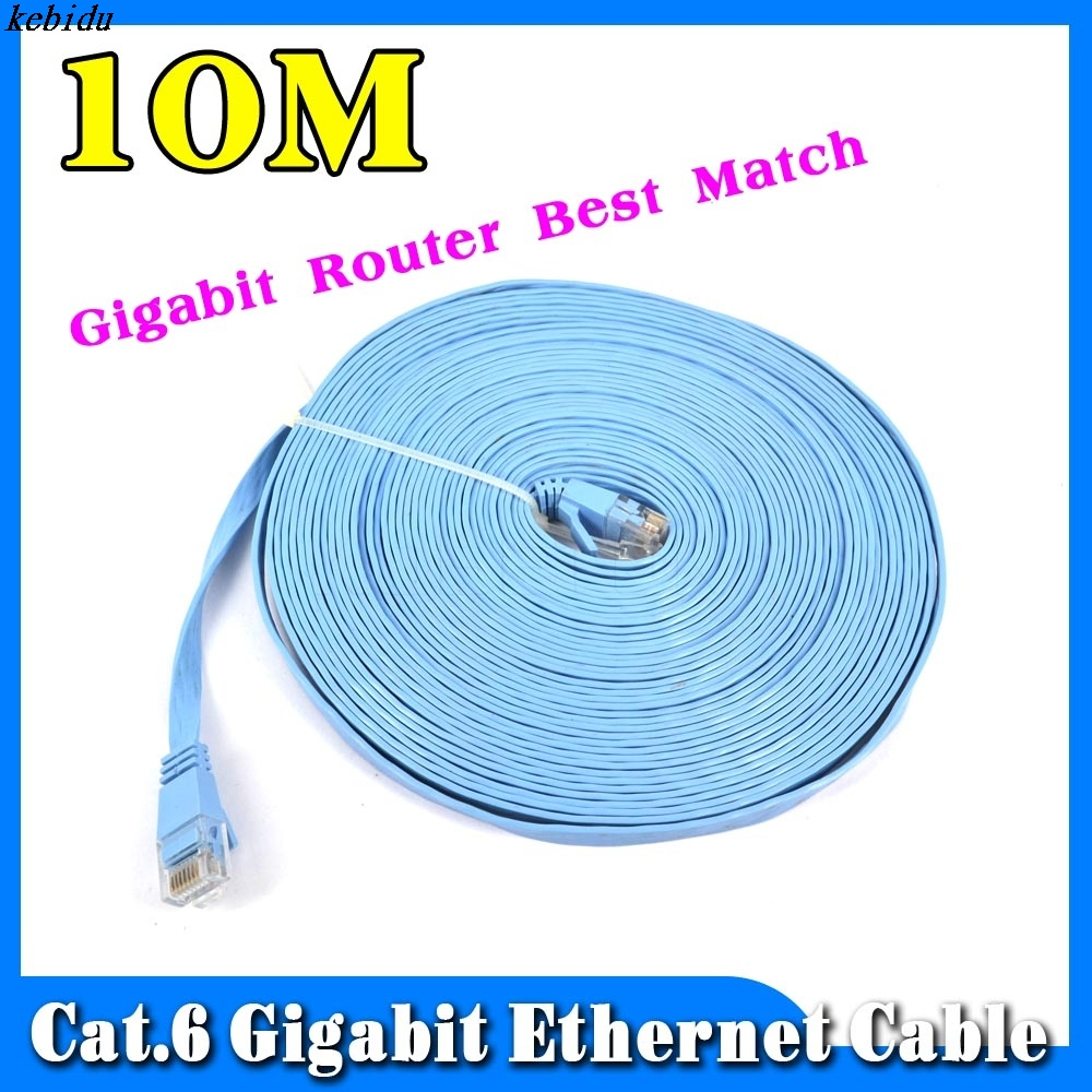 kebidu 2015 10m cat 6 flat utp 10 100 1000mbps gigabit. Black Bedroom Furniture Sets. Home Design Ideas