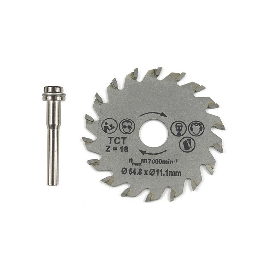 HSS Circular Saw Blade Rotary Tool 54.8mm Mini Wood Cutting Discs Blades With Drill Mandrel For Dremel Metal Cutter
