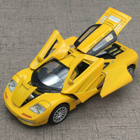 For McLaren Super Racing Car Model Diecast Sound Light Pull Back Six Open Design Auto Speed Wheels 2018 Model Car Toy Collection