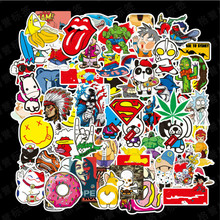 100 pcs/pack Classic Fashion Style Graffiti Stickers For Moto car & suitcase cool laptop