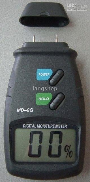 Wood Moisture Meter Detector Tester 5%-40% W/ 2 Pin Wood Tester 100pcs /lot LCD