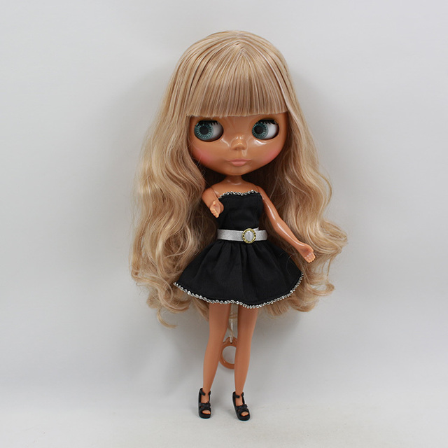 ICY Neo Blythe Doll Black Skin Light Brown Hair Regular Body