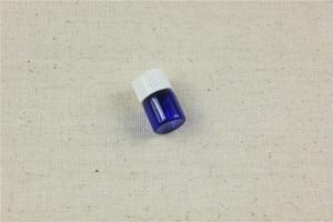 Image 5 - 100ピース/ロット1ミリリットル、2ミリリットルコバルトエッセンシャルオイル瓶でプラスチック蓋2ミリリットルガラスボトルブルーガラスバイアルでスポイト