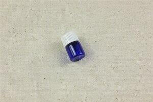 Image 5 - 100 stks/partij 1 ml, 2 ml Kobalt Essentiële Oliën Fles Met Plastic Deksel 2 ml Glazen Fles Blauw Glas flesjes Met Dropper
