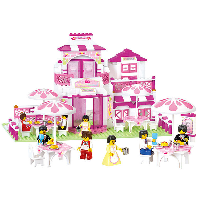 306pcs Building Block Romantic Restaurant Princess Friend Blocks Minifigure Bricks Girl Sets Toy Compatible With Legoe