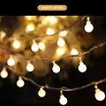 10 m Ao Ar Livre Novidade iluminação LED Bola de corda Luzes De Natal De Fadas com plug final jardim casamento guirlanda pingente EUA UE plugue