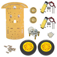 high tech diy robot kit Secondary School Science Kit 2WD Chassis Kit Speed Encoder Battery Box