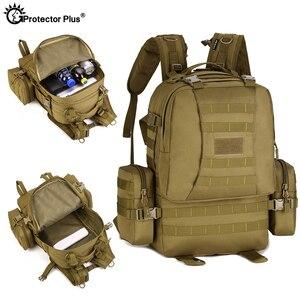 Image 5 - PROTECTOR PLUS Taktische Kombination Rucksack Militär Outdoor Camping Rucksack Reise Wandern Tasche Große Kapazität Rucksack 50L