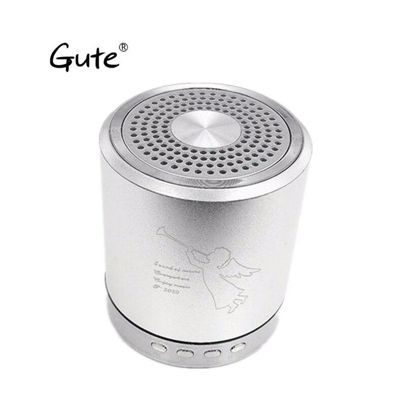 Gute bocians textura caixa de som woofer ativo carro liga criança chamada handfree caixa de som speaker FM TF USB BT altifalante céu dia