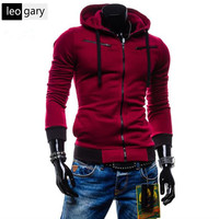 Fashion Casual Patchwork Slim Fit Autumn New Arrival Autumn Men Hooded Hoodies Free Shipping Long
