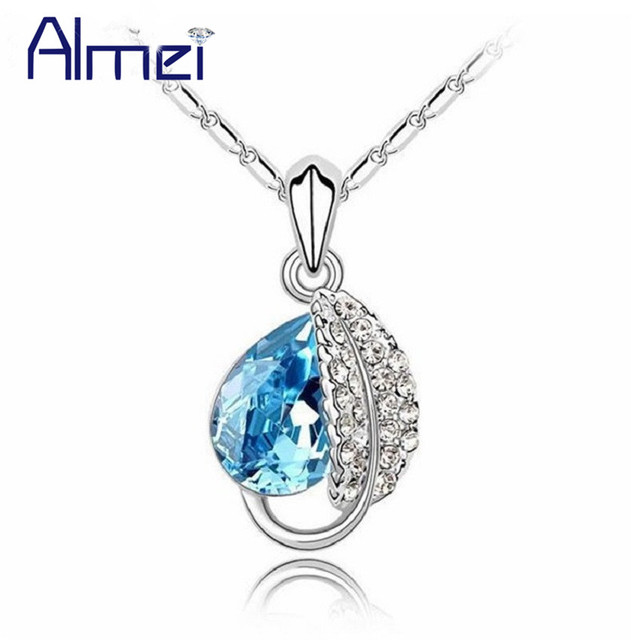 Almei Rhinestone Suspension Se Jewelry Charms  Ruby Pendant Statement Necklace Bijouterie Amethyst Colar Feminino DZ20071apphir