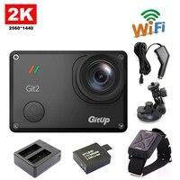 Бесплатная Доставка! Gitup git2 Wi Fi 2 К Спорт действий Камера + Дистанционное управление + дополнительная 1 шт. Батарея + Батарея Зарядное устройст