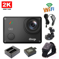 Free Shipping GitUp Git2 WiFi 2K Sports Action Camera Remote Control Extra 1pcs Battery Battery Charger