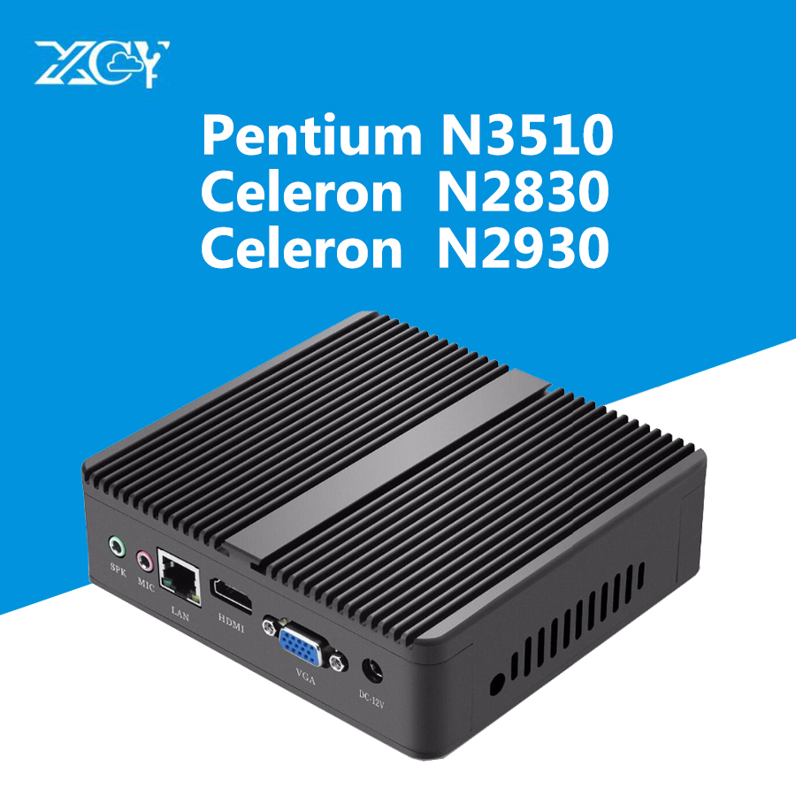 XCY Mini PC Windows Intel Pentium N3510 Celeron N2930 N2830 Quad-Core HDMI DDR3L USB3.0 WiFi Bluetooth Mini Desktop Computer недорго, оригинальная цена