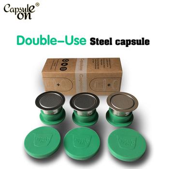 Capsulone cápsula compatível para máquina ocoffee nespress/espresso cápsula de café reutilizáveis/tampas da etiqueta cápsulas recarregáveis