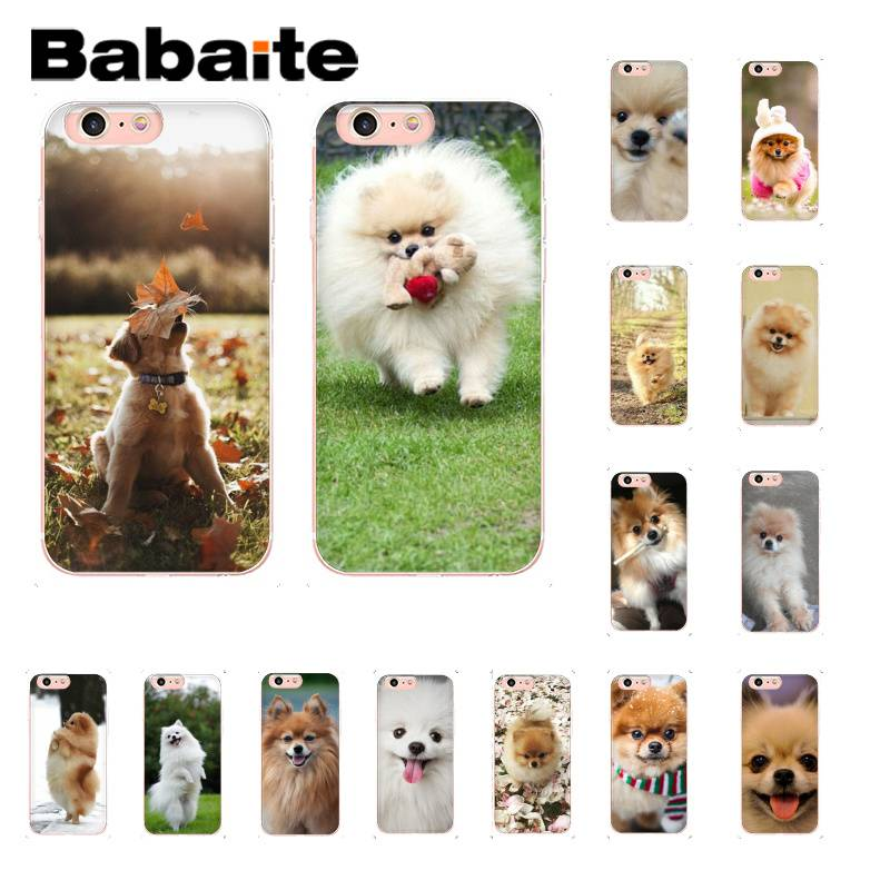 Babaite Pomeranian Dogs Dog Cute DIY Luxury Case for iPhone 8 7 6 6S Plus 5 5S SE XR X XS MAX 10 Coque Shell Собака