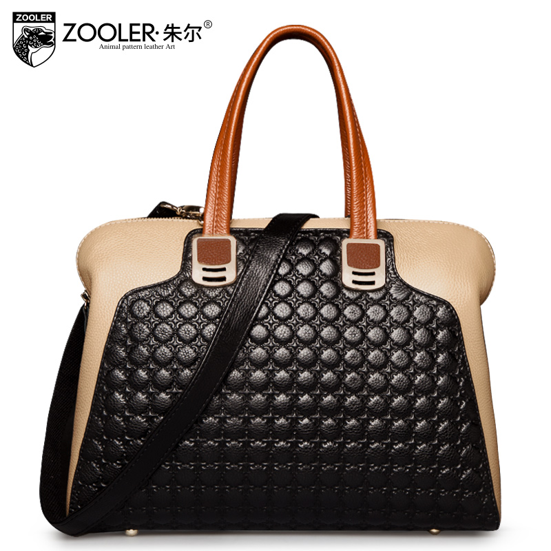 ZOOLER Designer Handbags High Quality Female Genuine Leather Bag Ladies Fashion Patchwork Street Shoulder Bag Tote Women Handbag zooler women handbag elegant ol shoulder bag ladies cow leather handbags fashion corssbody bags designer genuine leather handbag