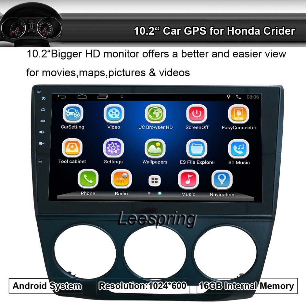 Android Quad Core 10 2 Car Stereo Video Player 1024x600 GPS Nav Sat for Honda Crider