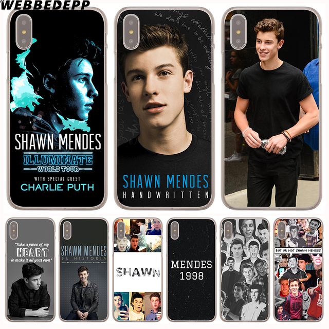 online store 58900 558bf US $1.88 6% OFF|WEBBEDEPP Shawn Mendes Magcon Hard Phone Case for iPhone X  XS Max XR 7 8 6S Plus 5 5S SE 5C 4 4S Cover-in Half-wrapped Case from ...