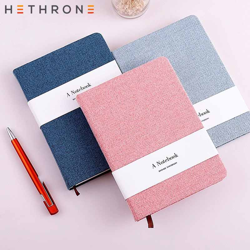 Hethrone A5 Cloth Cover Notebook For Office Vintage Handmade Hardcover Sketchbook Journal Diary Weekly Planner Stationery