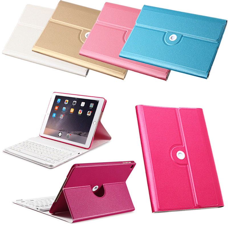 Portable PU Leather Cover Case Stand Holder with Wireless Bluetooth Keyboard For Tablet iPad Air 2 QJY99
