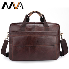 Genuine Leather men bags  Cowhide Leather Men's Messenger Crossbody Shoulder Handbag Briefcase 14″ Laptop Business Male Bag 1115