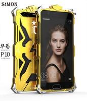 SIMON For Huawei P10 Plus Case Original Design Armor Heavy Dust Metal Aluminum THOR IRONMAN Protect