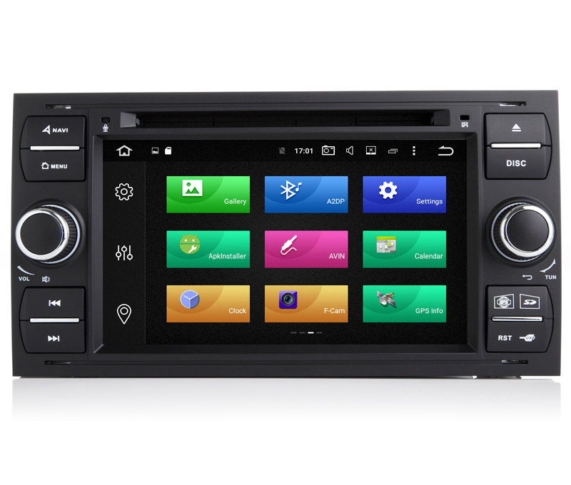 IPS Android 9.0 Car DVD GPS Player For Ford Fiesta Focus C-max Galaxy Mondeo Transit Octa Core 4G RAM 64G ROM Radio BT Wifi DAB+